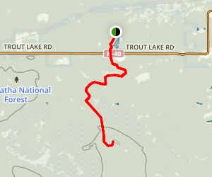 Trout Pond to Maple Hill Map