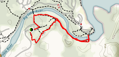 Sable River and Skyline Trail Loop Map