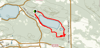 Fumee Lake Loop Map