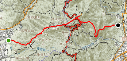 Hiei Mountain Hike Map