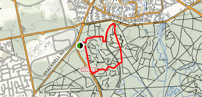 Crowthorne Wood to Caeser's Camp Loop Trail Map