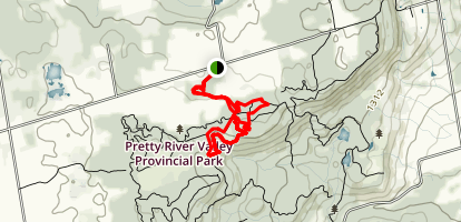 Pretty River Conservation Area Map
