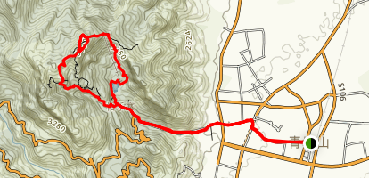 Qingcheng Mountain Hike Map