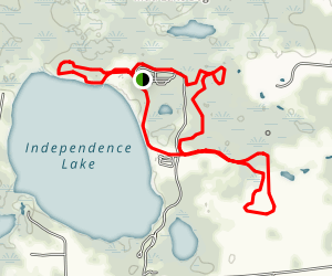 Independence Lake Trail Loop Map