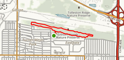 Gibsons Woods Trail Map