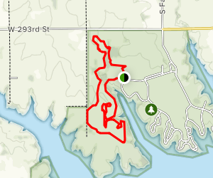 Crooked Knee Horse Trail: Orange Loop Map