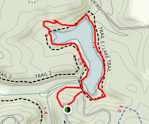 Spring Mill Lake Trail Map