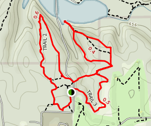 Griffy Lake Nature Preserve Loop Trail Map