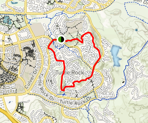 Turtle Rock/French Hill Loop Map