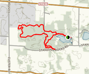Standing Rock Mountain Bike Loop Map
