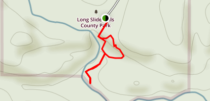 Long Slide Falls Map