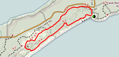 Whitefish Dunes State Park Loop Map