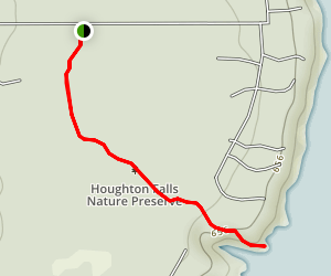 Houghton Falls Trail Map