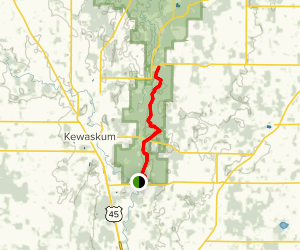 Ice Age Trail: County Road H to New P Fane Map