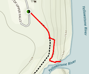 Brink of the Upper Yellowstone Falls Map