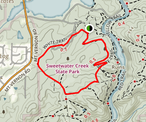 Sweetwater Creek White and Green Loop Map