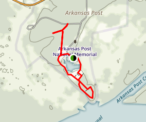 Arkansas Post National Memorial Trail System Map