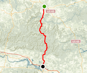 Scenic 7 Byway: Harrison to Russellville Map