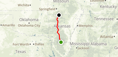 Arkansas Highway 7 Scenic Byway Map