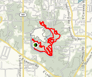 Craighead Forest Trails Loop Map