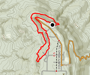 Nebo Springs and Steps Trail Map