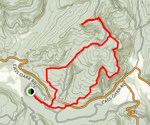 Redding/Spy Rock Loop Trail Map