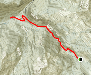 Schofield Pass Road to Crystal Mill Map