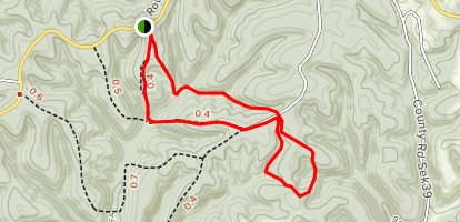 Huckleberry Ridge State Forest Map