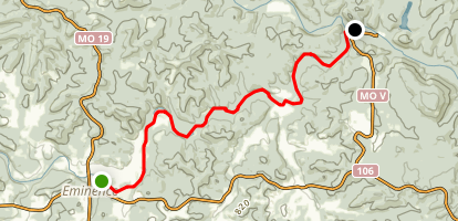 Jack's Fork River: Emminence to Two Rivers Map