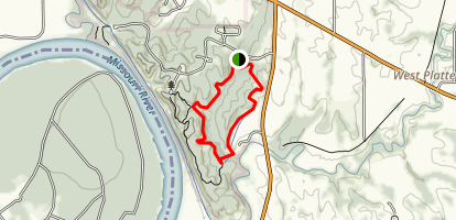 Weston Bend State Park Paved Bicycle Loop Map