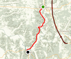 The Christmas City: Anderson to Noel Scenic Drive Map