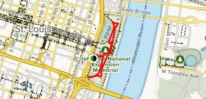 Jefferson National Expansion Memorial Map