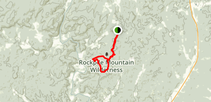 Rock Pile Mountain Wilderness Area Trail Map