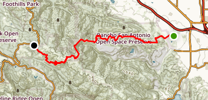 Rancho San Antonio to Page Mill Road Map