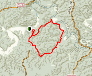 Gardside and Razorhollow Trail Map