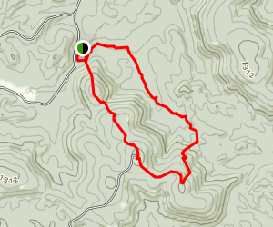 Rocky Falls and Kelley Hollow Loop Trail Map