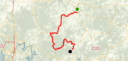 Glade Top Trail Scenic Drive: Ava to Longrun Map