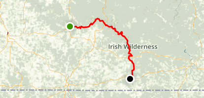 Eleven Point River: Thomasville to MO 142 Map