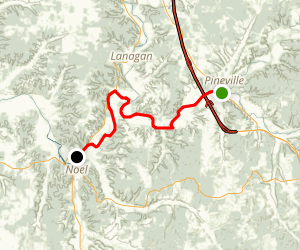 Elk River: Pineville to Noel Map