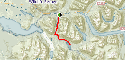 Russian Lakes Trail Map