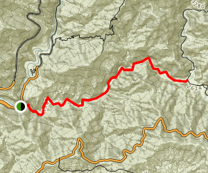 Cattle Canyon Trail Map