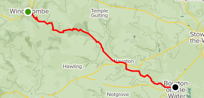 Winchcombe to Bourton on the Water Map