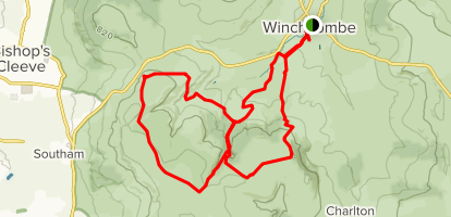 Cleeve Hill-Winchcombe Loop Map