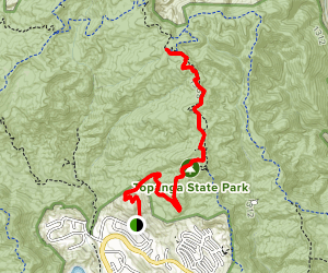 Trailer Canyon to Temescal Peak Map