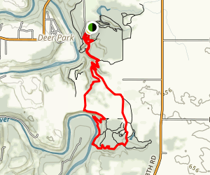 Dells to Vermillion River Map