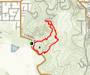 Saltese Uplands Loop Map