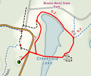 Creekfield Lake Trail Map