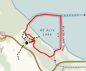 40 Acre Lake Trail Map
