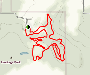 Heritage Park Red Loop Map
