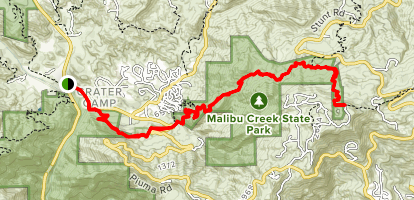 Backbone Trail: Tapia Park to Saddle Peak Map